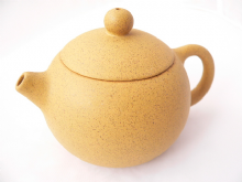 Chinese Yixing Clay teapot, Yellow